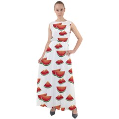 Summer Watermelon Pattern Chiffon Mesh Boho Maxi Dress