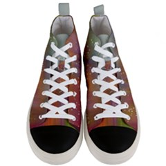 Background Geometry Star Men s Mid Top Canvas Sneakers