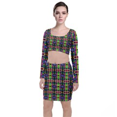 Abstract 8 Top And Skirt Sets