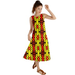 Red Black Yellow-9 Summer Maxi Dress