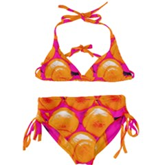 Pop Art Tennis Balls Kids  Classic Bikini Set by essentialimage