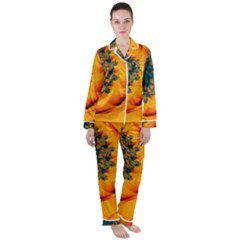 Art Artwork Fractal Digital Art Satin Long Sleeve Pyjamas Set