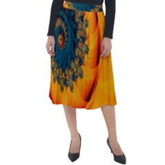 Art Artwork Fractal Digital Art Classic Velour Midi Skirt