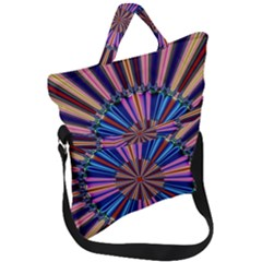 Artwork Fractal Geometrical Design Fold Over Handle Tote Bag by Wegoenart