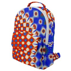 Digital Arts Fractals Futuristic Red Blue Flap Pocket Backpack (small) by Wegoenart