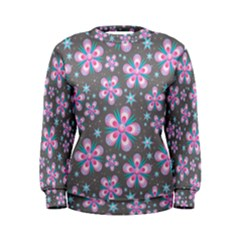 Seamless Pattern Flowers Pink Women s Sweatshirt