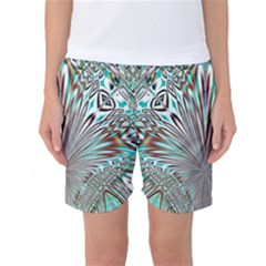 Crystal Design Crystal Pattern Glass Women s Basketball Shorts by Wegoenart