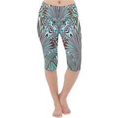 Crystal Design Crystal Pattern Glass Lightweight Velour Cropped Yoga Leggings