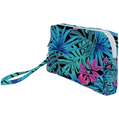 Leaves Picture Tropical Plant Wristlet Pouch Bag (small) by Wegoenart