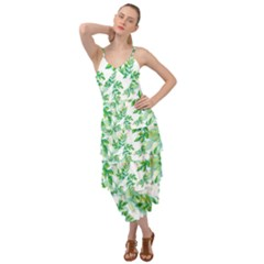 Leaves Green Pattern Nature Plant Layered Bottom Dress