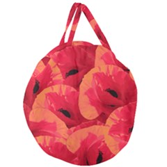 Poppies  Giant Round Zipper Tote by HelgaScand