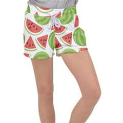 Watermelon Juice Auglis Clip Art Watermelon Women s Velour Lounge Shorts