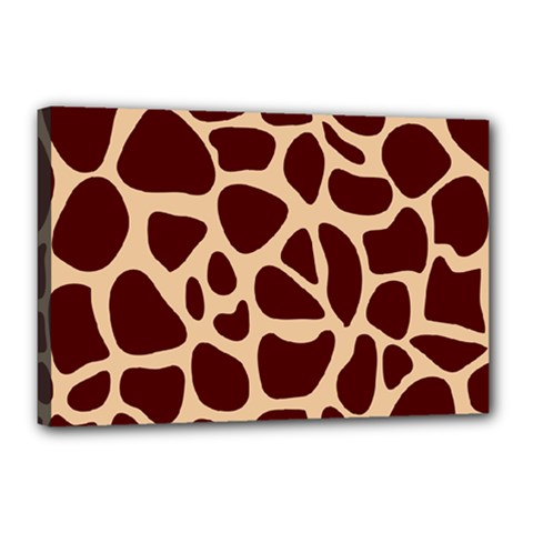 Animal Print Giraffe Patterns Canvas 18  X 12  (stretched)