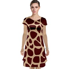 Animal Print Giraffe Patterns Cap Sleeve Nightdress by Vaneshart