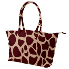 Animal Print Giraffe Patterns Canvas Shoulder Bag by Vaneshart