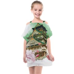 Osaka Castle Nagoya Castle Kumamoto Castle Kids  One Piece Chiffon Dress