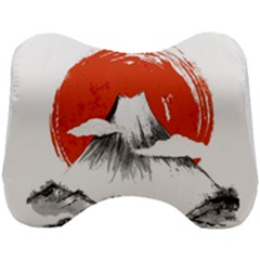 Mount Fuji Mountain Ink Wash Painting Head Support Cushion