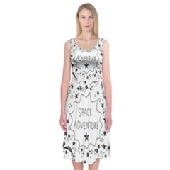 Space Elements Midi Sleeveless Dress