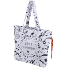 Space Elements Drawstring Tote Bag