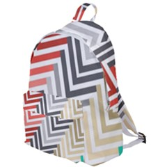 Abstract Colorful Geometric Pattern The Plain Backpack by Vaneshart