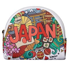 Earthquake And Tsunami Drawing Japan Illustration Horseshoe Style Canvas Pouch