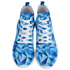 Triangles Abstract Blue Men s Lightweight High Top Sneakers