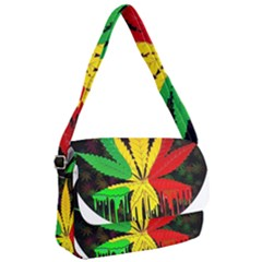 Cannabis Leaf Color Courier Bag