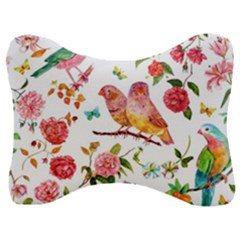 Watercolour Flowers Watercolor Painting Drawing Velour Seat Head Rest Cushion