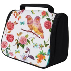 Watercolour Flowers Watercolor Painting Drawing Full Print Travel Pouch (big)