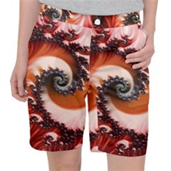 Abstract Fractal Patterns Red Pocket Shorts