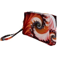 Abstract Fractal Patterns Red Wristlet Pouch Bag (small) by Vaneshart