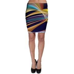 Lines Stripes Colorful Abstract Background Color Bodycon Skirt