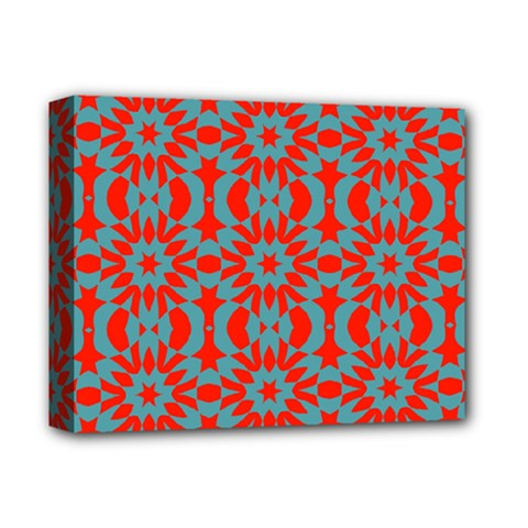 Seamless Geometric Pattern In A Red Deluxe Canvas 14  X 11  (stretched)