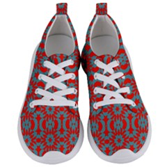 Seamless Geometric Pattern In A Red Women s Lightweight Sports Shoes