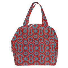 Seamless Geometric Pattern In A Red Boxy Hand Bag by Vaneshart