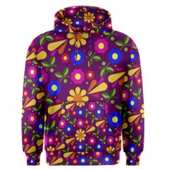Flowers Patterns Multicolored Vector Men s Pullover Hoodie