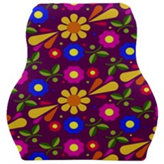 Flowers Patterns Multicolored Vector Car Seat Velour Cushion
