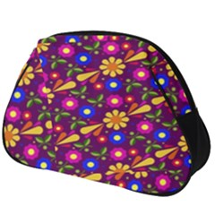 Flowers Patterns Multicolored Vector Full Print Accessory Pouch (big)