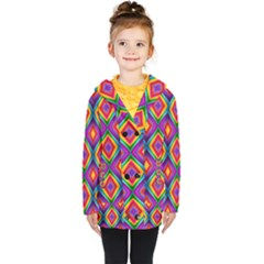Abstract B 1 Kids  Double Breasted Button Coat
