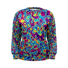 Ripple Motley Colorful Spots Abstract Women s Sweatshirt