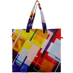 Abstract Lines Shapes Colorful Canvas Travel Bag