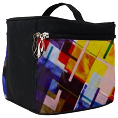 Abstract Lines Shapes Colorful Make Up Travel Bag (big)