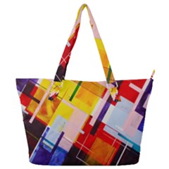 Abstract Lines Shapes Colorful Full Print Shoulder Bag