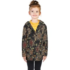 Patterns Abstract Flowers Kids  Double Breasted Button Coat by Vaneshart