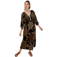 Patterns Abstract Flowers Grecian Style  Maxi Dress