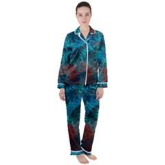 Abstract Patterns Spiral Satin Long Sleeve Pyjamas Set
