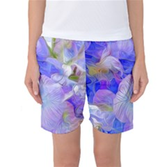 Flowers Abstract Colorful Art Women s Basketball Shorts