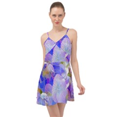 Flowers Abstract Colorful Art Summer Time Chiffon Dress