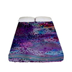 Stains Circles Watercolor Colorful Abstract Fitted Sheet (full/ Double Size)