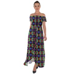Abstract 11 Off Shoulder Open Front Chiffon Dress
